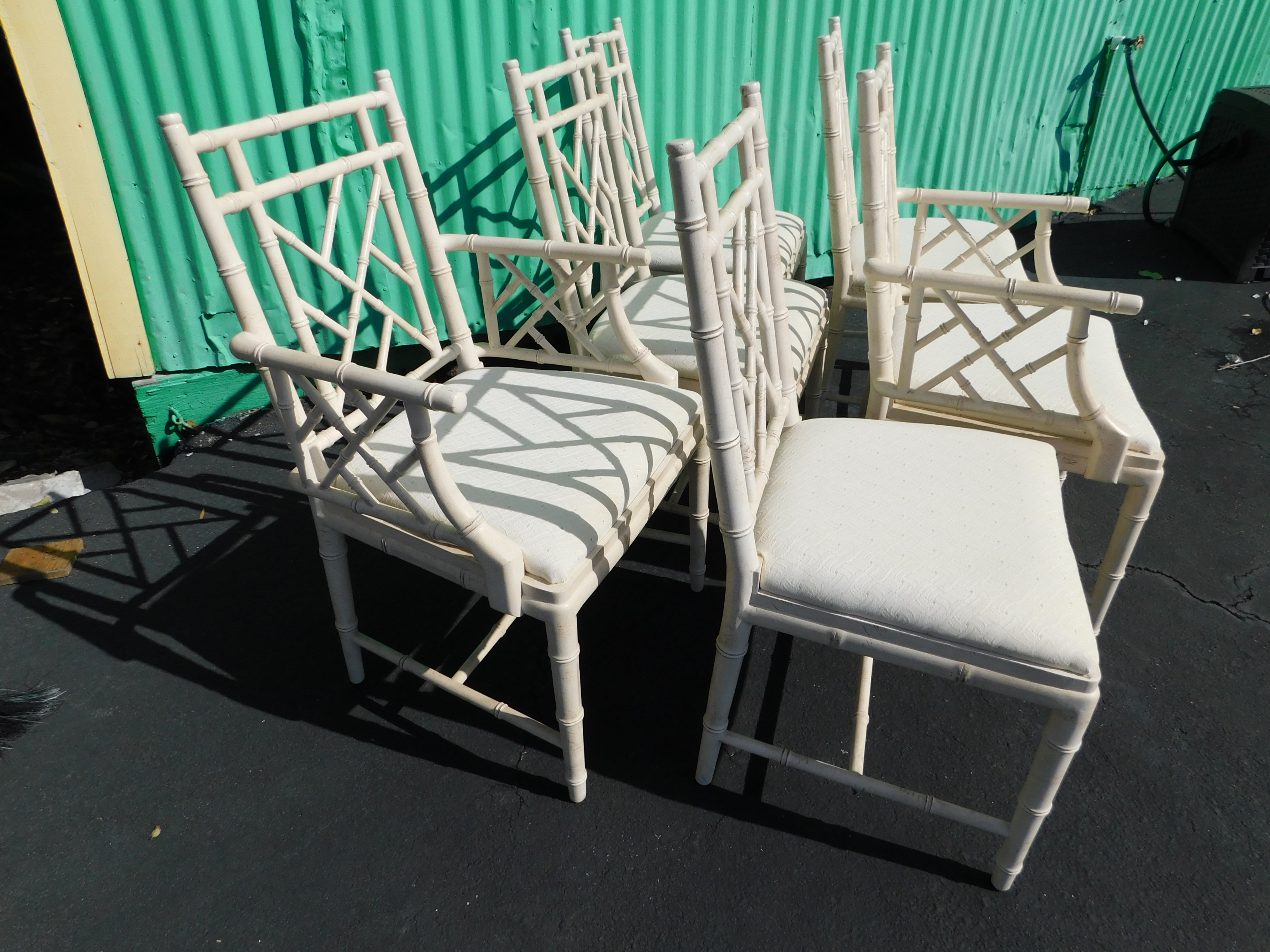 Faux Bamboo Chippendale Dining Chairs   Set Of 6   Image 3 Of 8