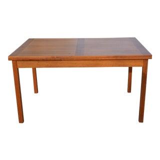 Vintage Danish Modern Teak Dining Table For Sale