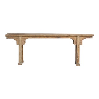 Excusite Thick Plank Top Antique Altar Table For Sale