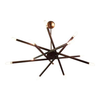 "Blueprint Lighting Model 120 ""Nest"" Oil Rubbed Bronze Chandelier For Sale"