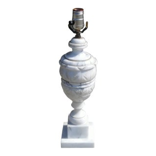 Carved Marble Urn Table Lamp Neoclassical
