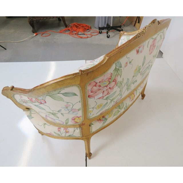 Antique French Gilt Carved Settee - Image 4 of 5