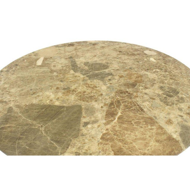 Marble Mid-Century Modern Round Marble Dining Table For Sale - Image 7 of 9