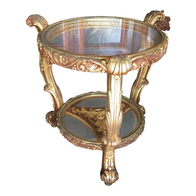 Rococo Carved French Style Side Table Chairish - Rococo side table