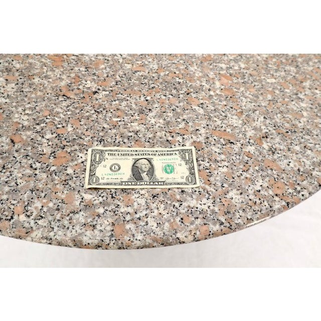Stone Round Granite Stone X Base Dining Dinette Center Table For Sale - Image 7 of 9