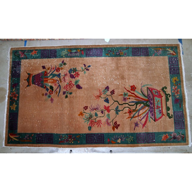 1920s Handmade Antique Art Deco Chinese Rug 4 1 X 6 5 Chairish