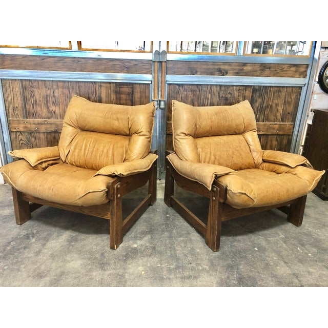 Wood 1970's Swedish Lounge Chairs For Sale - Image 7 of 7