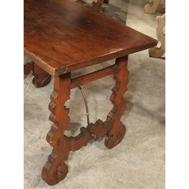 Circa 1750 Italian Walnut Wood Writing Table For Sale - Image 10 of 13