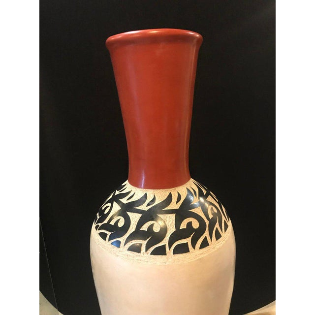 Pair of monumental decorative Moroccan pottery vase or urns. Exceptionally decorative and beautiful are these tall vases...