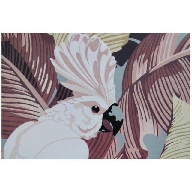 "Modern Vintage Art Gallery Advertisement ""Cockatoo"" Framed Poster For Sale - Image 3 of 11"