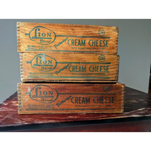 Vintage Wooden Cheese Boxes - Set of 3 For Sale - Image 10 of 10