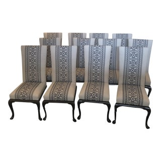 Rose Tarlow Custom Upholstered York Dining Side Chairs - Set of 12 For Sale