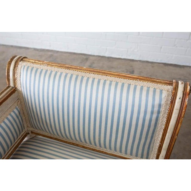 French Louis XVI Style Painted Window Bench Banquette For Sale - Image 4 of 13
