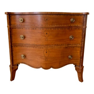 Baker Furniture Stately Homes Reproduction George III Satinwood Chest Of Drawers For Sale