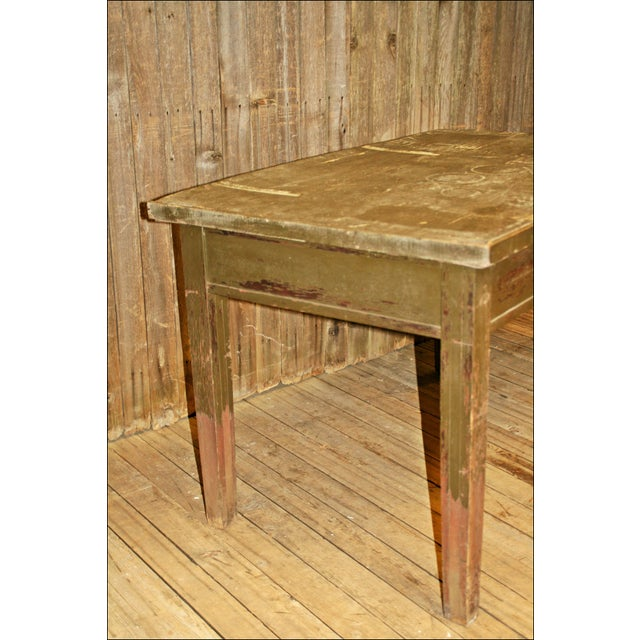 Vintage Industrial Wood Library Table - Image 11 of 11