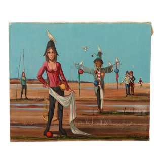 Mid-Century Surrealist Painting For Sale