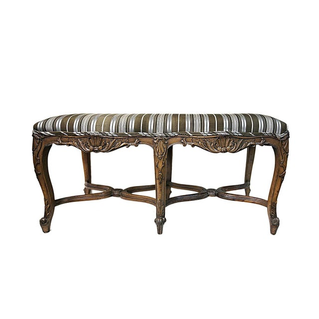 Bench - Antique Carved Bench - Image 1 of 5