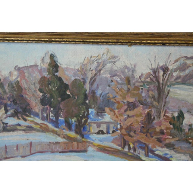 Impressionist Winter Landscape Painting For Sale In New York - Image 6 of 7