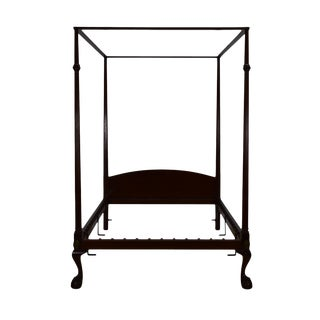 20th Century British Colonial Kittinger Full/Double Size Solid Mahogany Canopy Bedframe For Sale