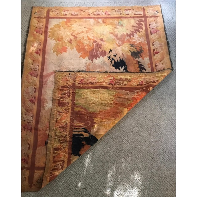 Antique Pastoral Scene Wool Tapestry For Sale - Image 9 of 10
