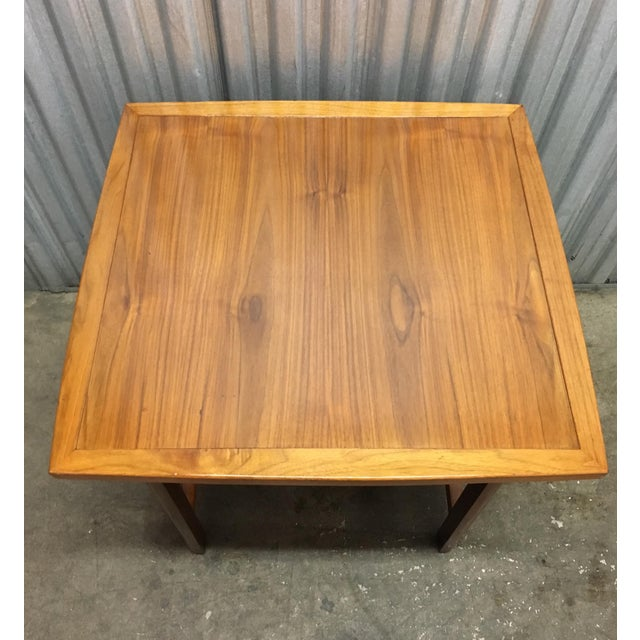 Risom Style Floating Top Side Table For Sale - Image 4 of 10