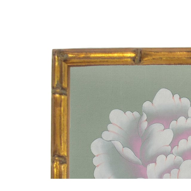 Newly framed in an antique hand-applied gilt solid wood moulding carved to resemble bamboo. Mounted on museum quality...
