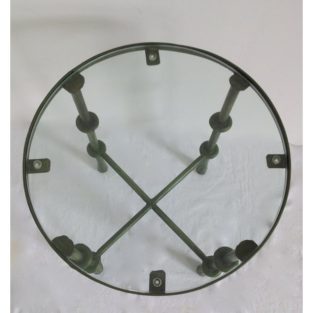 Giacometti-Style Forged Round End Table - Image 7 of 11