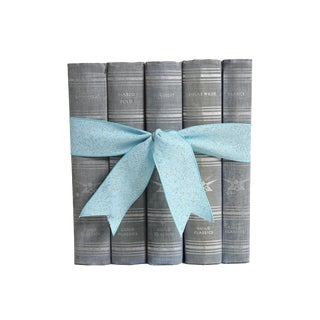 Vintage Book Gift Set: Muted Blue Classics - Set of 5