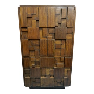 Lane Brutalist Armoire Tall Chest