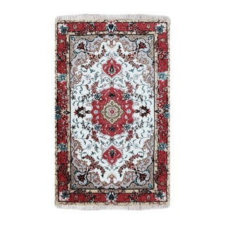 """Wool and Silk Persian Rug 2'5"""" X 3'6"""" For Sale"""