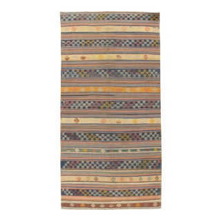 Vintage Turkish Hand-Woven Kilim - 5'8 X 11'5 For Sale
