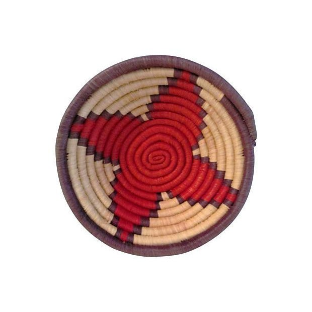 Vintage Petite African Coiled Baskets - A Pair - Image 2 of 6