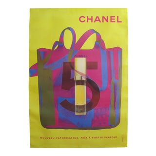 1998 Original Vintage Chanel No. 5 Poster (Yellow, Pink & Blue)