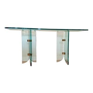 Vintage Leon Rosen Pace Glass Console Table