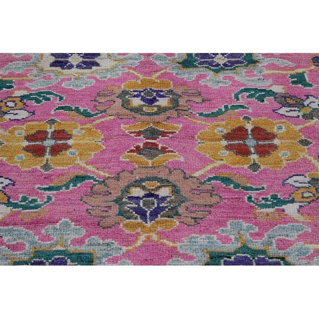 """Traditional Handwoven Turkish Oushak Rug - 8'2""""x10'7"""" For Sale - Image 4 of 12"""