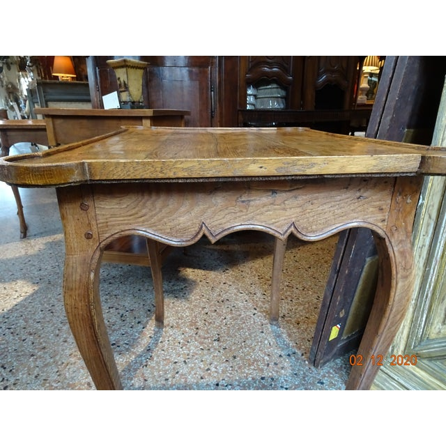 Sienna Mid 19th Century French Oak Side Table For Sale - Image 8 of 11