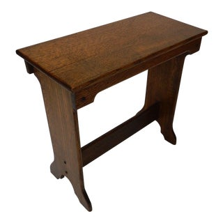 Antique Mission Arts and Crafts Bench