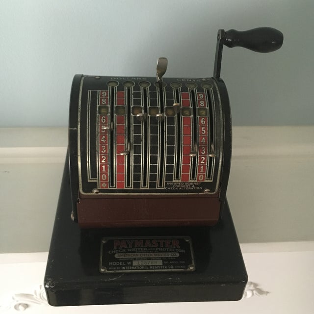 1930s Antique Paymaster Office Check Writer - Image 4 of 11