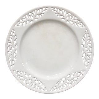 19th c. English Creamware Plate For Sale