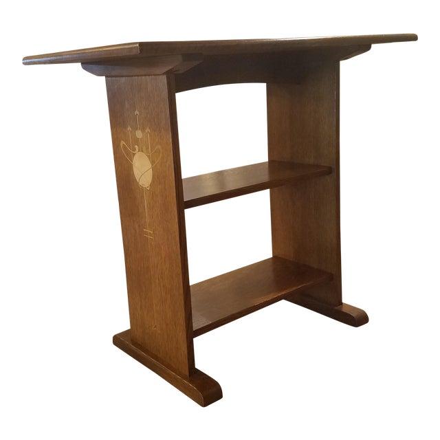 Harvey ellis stickley inlaid oak side table chairish harvey ellis stickley inlaid oak side table watchthetrailerfo