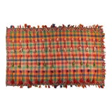 Image of Berber Wool Plaid Throw With Tassels For Sale