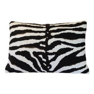 Boho Chic Zebra Print Pillow For Sale