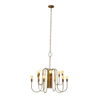 Brass Chandelier by Lightolier