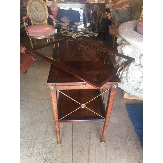 1980s Drinks Cart Tea Table With Removable Tray Top For Sale - Image 5 of 9