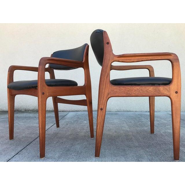 Mid Century Modern Teak Dining Chairs Set Of 4 Chairish