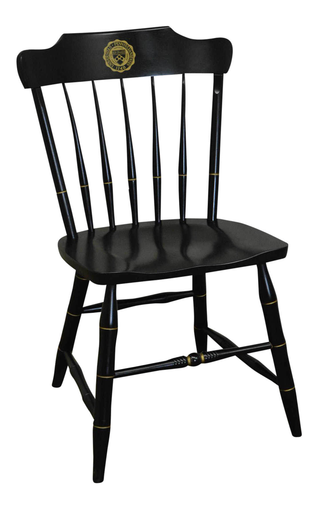 University Of Pennsylvania Black Windsor Side Chair