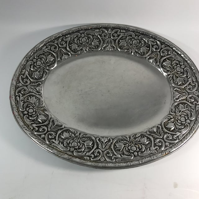 Wilton Armelate William & Mary Hollow Ware Tray For Sale - Image 5 of 5
