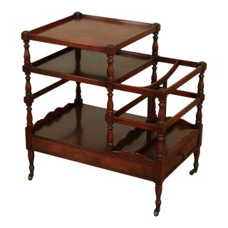 Beacon Hill Regency Style Vintage Mahogany Magazine Stand Side Table For Sale