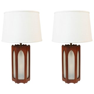 Pair of Vintage C. 1970s Moorish Style Lamps For Sale