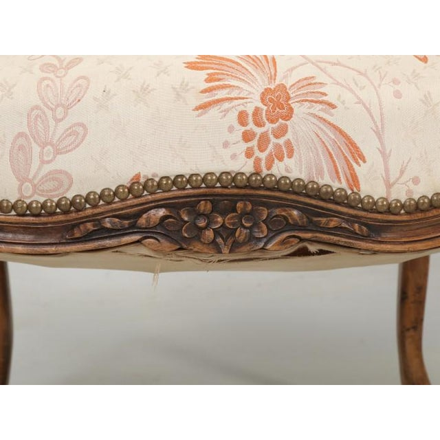 Antique French Louis XV Style Pair of Arm Chairs For Sale - Image 11 of 13